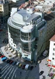 Hans Hollein, Haas-Haus, Wien, AT, 1985–1990, Blick vom Stephansdom
