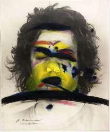 Arnulf Rainer Face Farces: Farbstreifen, 1972