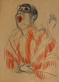 Erna Schmidt-Carroll Chansonette, 1928 Pastellkreide auf Papier