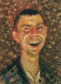 RICHARD GERSTL 1883–1908 Selbstbildnis, lachend, 1908