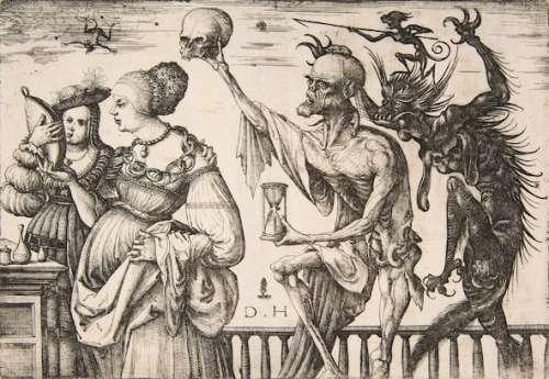 Daniel Hopfer Tod und Teufel überraschen zwei Frauen, ca. 1510–1515