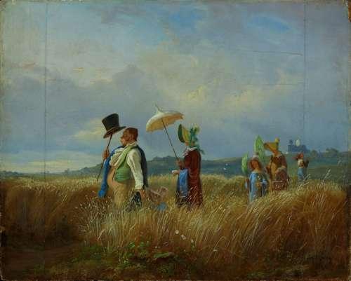 Carl Spitzweg, Der Sonntagsspaziergang, 1841