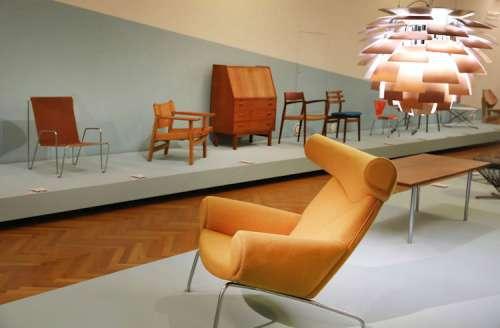Made in Denmark, Ox Chair, Hans Wegner mit  Hängeleuchte Artichoke